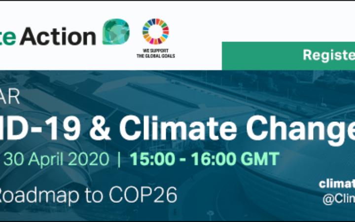Free Webinar: COVID-19 & Climate Change // 30 April 2020